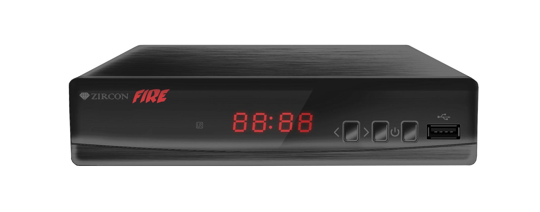 ZIRCON FIRE DVB-T2 HD přijímač s HEVC DVB-T2 ověřeno