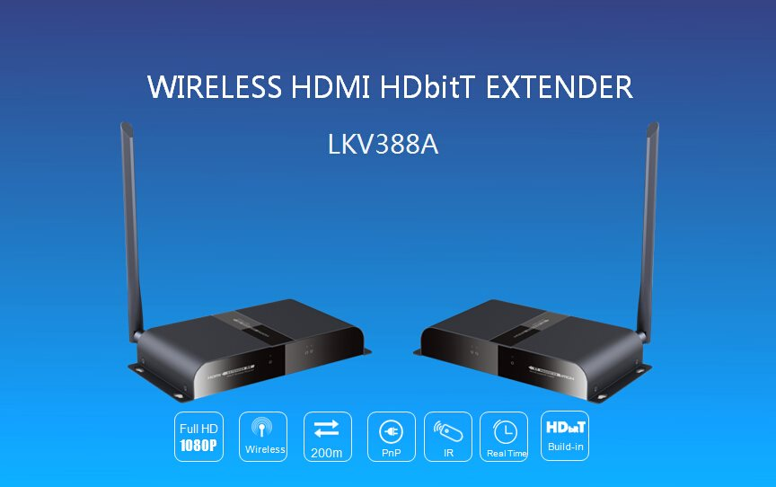 Zircon HDMI WI-FI extender - přenos HDMI vzduchem až na 200 m